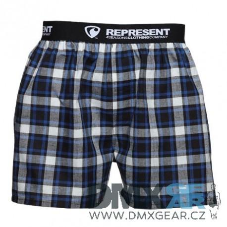REPRESENT pánské bavlněné černo-modré trenýrky Mikebox 16206