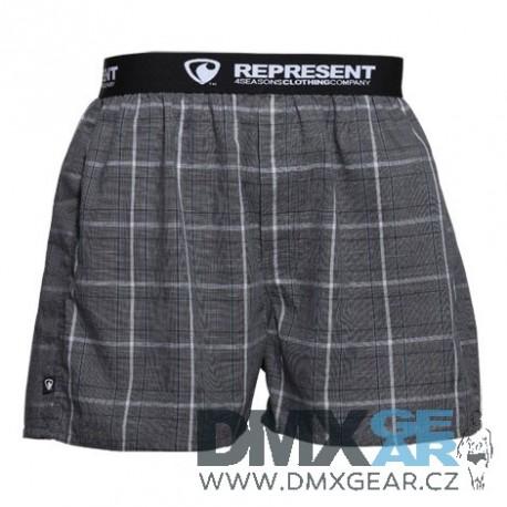 REPRESENT pánské bavlněné tmavě šedé trenýrky Mikebox 16207 Velikost L
