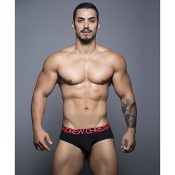 ANDREW CHRISTIAN pánské černé slipy Almost Naked Tagless Cotton Brief 90122