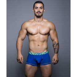 ANDREW CHRISTIAN pánské modré boxerky Almost Naked Tagless Cotton Boxer 90123