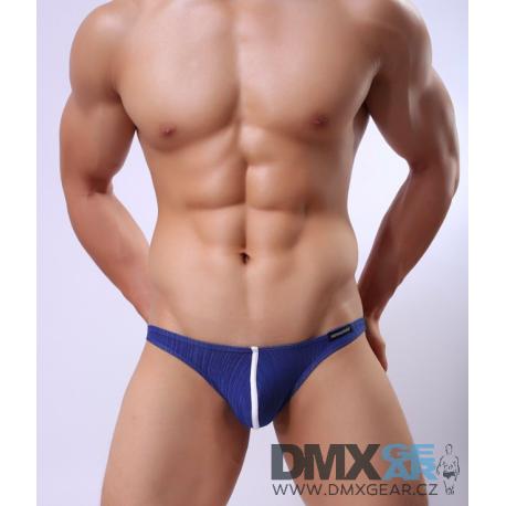 JJ SOX tmavě modré průhledné slipy se stylovým proužkem