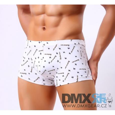 BRAVE PERSON pánské boxerky bílé vzorované Budweiser Velikost XL