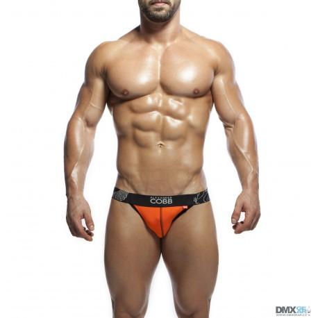 ALEXANDER COBB jockstrapy oranžové s černou gumou Sweet