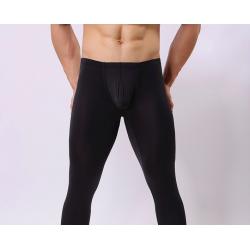 BRAVE PERSON pánské černé průhledné kalhoty Woxuan