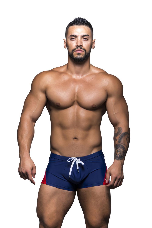 ANDREW CHRISTIAN plavky boxerkové tmavě modré Vibe Trunk 29cd31333a