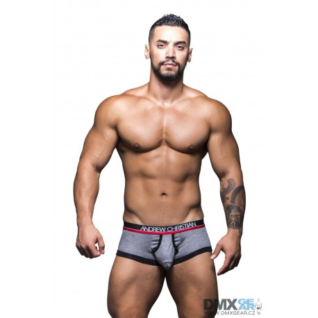 ANDREW CHRISTIAN boxerky šedé Almost Naked Tagless Retro Boxer 90157