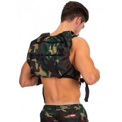 BARCODE BERLIN zeleno-hnědý army batoh na záda Backpack Devil Soul