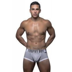 ANDREW CHRISTIAN pánské šedé boxerky Trophy Boy Boxer 90171