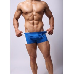 BRAVE PERSON modré boxerky Stripe s bílým pruhem po straně