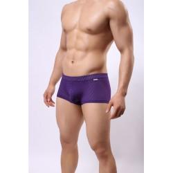 BRAVE PERSON boxerky fialové děrkované Mesh Boxer