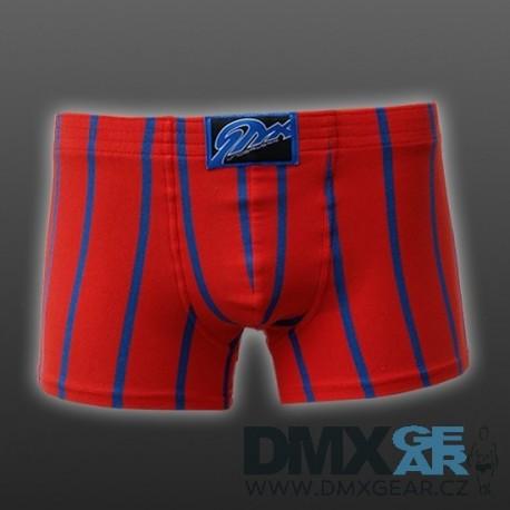 STYX UNDERWEAR pánské boxerky červené s modrými pruhy Q760
