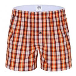 PINK HERO trenýrky kostičkované oranžové Montreux