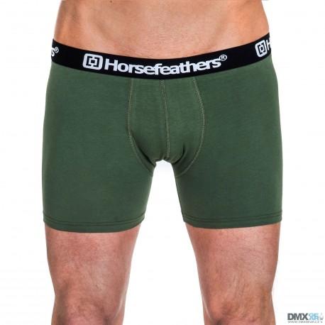 HORSEFEATHERS pánské zelené boxerky Dynasty Boxer Shorts