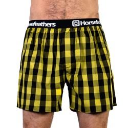HORSEFEATHERS pánské žluté kostičkované trenýrky Apollo Boxer Shorts