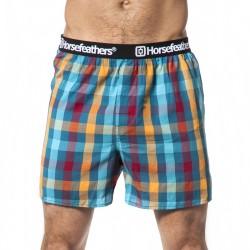 HORSEFEATHERS pánské tyrkysové kostičkované trenýrky Apollo Boxer Shorts