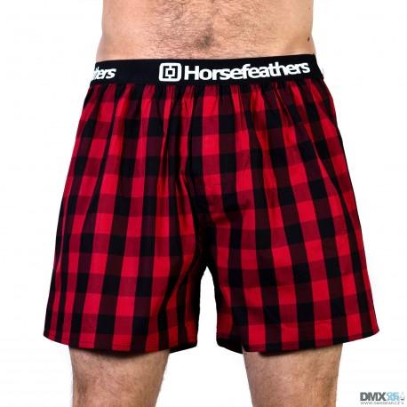 HORSEFEATHERS pánské červené kostičkované trenýrky Apollo Boxer Shorts