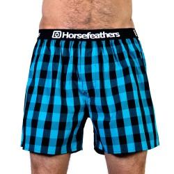 HORSEFEATHERS pánské tyrkysovo-černé kostičkované trenýrky Apollo Boxer Shorts
