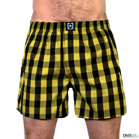 HORSEFEATHERS pánské žluto-černé kostičkované trenýrky Sin Boxer Shorts