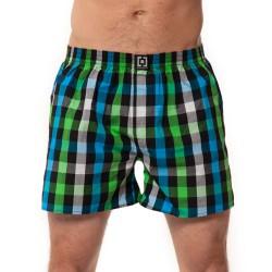 HORSEFEATHERS pánské modro-zelené kostičkované trenýrky Sin Boxer Shorts