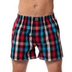 HORSEFEATHERS pánské modro-červené kostičkované trenýrky Sin Boxer Shorts