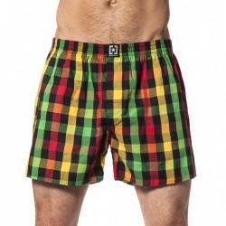 HORSEFEATHERS pánské červeno-žluto-zelené kostičkované trenýrky Sin Boxer Shorts