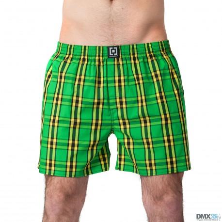 HORSEFEATHERS pánské žluto-zelené kostičkované trenýrky Sin Boxer Shorts
