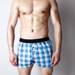 PINK HERO volné trenýrky kostičkované modro-bílé Super Body