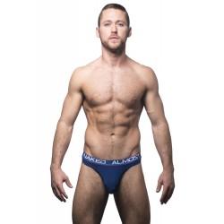 ANDREW CHRISTIAN pánská tanga tmavě modrá Almost Naked Tagless Premium Thong 90265