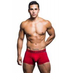 ANDREW CHRISTIAN boxerky červené Almost Naked Cotton Boxer 90196
