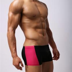 BRAVE PERSON černé boxerky Stripe s růžovým pruhem po straně