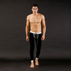 MIBOER černé pánské dlouhé kalhoty Body