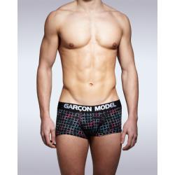 GARÇON MODEL černé pánské boxerky Comet Boxer