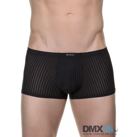 BRUNO BANANI boxerky černé s proužkem Hipshort Tape