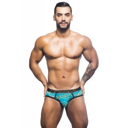 ANDREW CHRISTIAN slipy tyrkysové Massive Chain Brief 90341