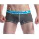 SEOBEAN pánské šedé boxerky s modrou gumou