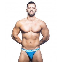 ANDREW CHRISTIAN modré jocksy Almost Naked Electric Jock 40656
