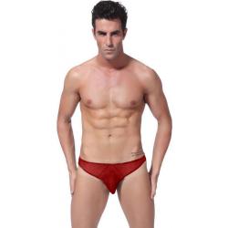 BRAVE PERSON pánská červená tanga Thonger