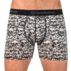 HORSEFEATHERS pánské černobílé boxerky Ezra Boxer Shorts Skulls