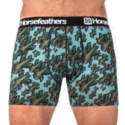 HORSEFEATHERS pánské zelené boxerky Sidney Boxer Shorts Bombs