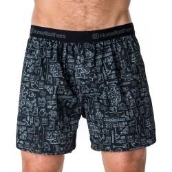 HORSEFEATHERS pánské černo-šedé trenýrky Frazier Boxer Shorts Gear