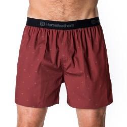 HORSEFEATHERS pánské rubínové trenýrky Frazier Boxer Shorts Ruby