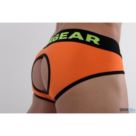 DMXGEAR pánské luxusní oranžové backless slipy Anatomically Fit Brief