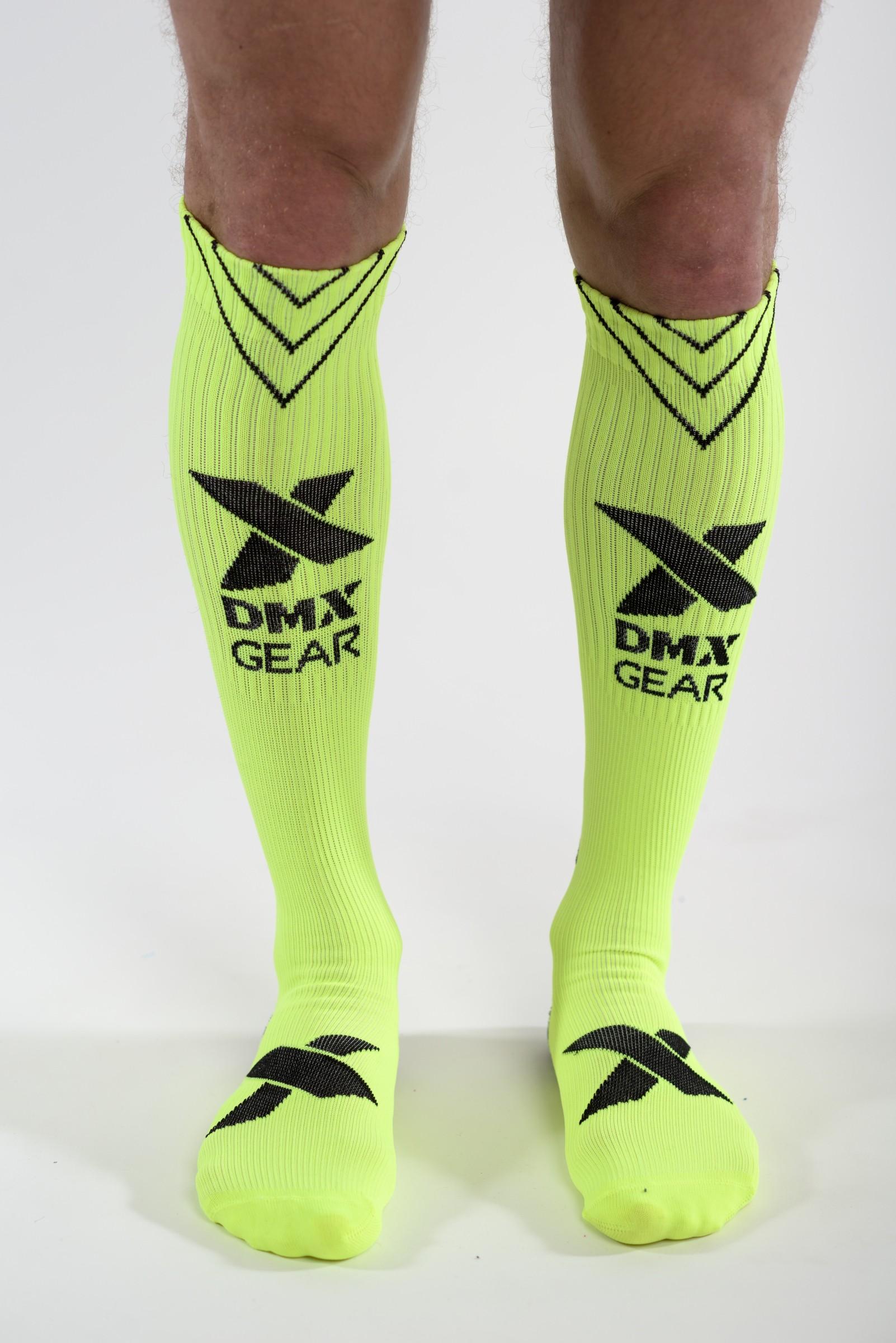 DMXGEAR kompresní pánské žluté sportovní podkolenky