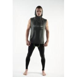 DMXGEAR sportovní tričko bez rukávů s kapucí Summer Vibes SPORT PURE šedé