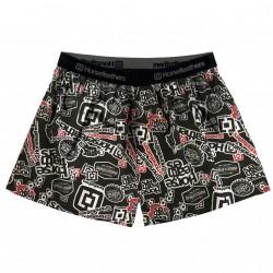 HORSEFEATHERS pánské černé vzorované trenýrky Frazier Boxer Shorts Stickers