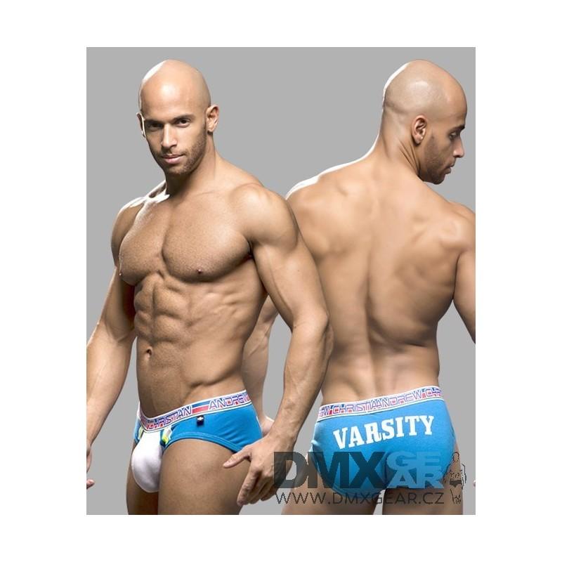 ... ANDREW CHRISTIAN bílo-modré pánské jocksy Varsity Locker Room Jock dd8bac2047