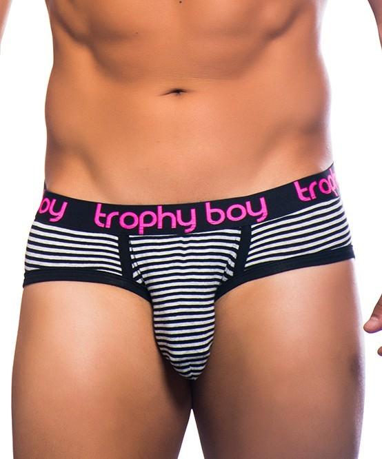 ANDREW CHRISTIAN slipy černo-bílé pruhované Trophy Boy Brief 90643 f831b6211f