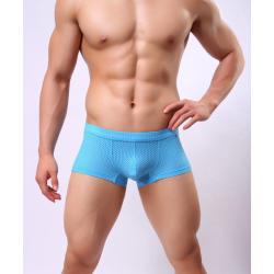 BRAVE PERSON boxerky světle modré děrkované Mesh Boxer