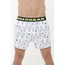 DMXGEAR Luxusní pánské volné trenýrky s motivem medvědů Tartan by DMXGEAR