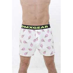 DMXGEAR Luxusní pánské volné trenýrky s motivem růžových zmrzlin Tartan by DMXGEAR